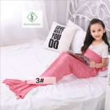 90cm*50cm Crochet Mermaid Tail Blanket Soft Sleeping Bag Knitted Blanket