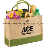 Wholesale Bulk Custom Printed Two Tone Eco-Friendly Jute Promotional Bags