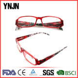 Ynjn Bright Color Red Frame Glasses Reading