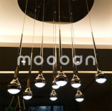 Modern Multihead Black or Chrome Metal LED Meteor Shower Water Drop Pendant Light