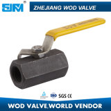 2000 Wog 1PC CS Floating Hexagonal Thread Ball Valve 3 Inch