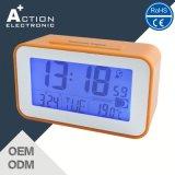 Blue LED Backlight Digital Table Alarm Dcf77 Radio Controlled Clock