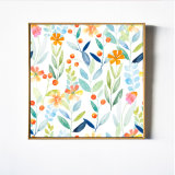 Tropical Fruit Flowers Wall Art Canvas
