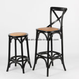 Wooden Cross Back High Bar Chair (DC-112)