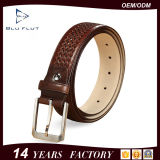 Customized Quality Gift Men's Genuine Cowhide Leather Braided Waist Belts
