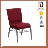Commercial Furniture Cheap Arm Aluminium Metal Church Chair with Net