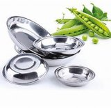 Custom ODM OEM Stainless Steel Lunch Round Food Tray