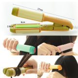 Wholesale Korea Style Mini Electric Dual-Purpose Curling Iron Splint Straight Roll Bar Lovely Cartoon Creative Hair Straightener