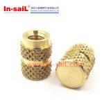 China Fastener Supplier Brass Threaded Insert Nut M8 for Plastic Case