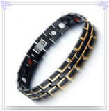 Stainless Steel Bracelet Fashion Jewelry with Energy (HR1385GB)
