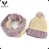 Lady Winter Warmer Acrylic Knitted Set Neck Warmer and Hat