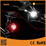 Cyclists USB Rechargeable LED Bike Light Set Waterproof - White Headlight and Red Taillight