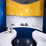 Welbom Elegent Blue Wooden Interior Home Design Kitchen Cabinets