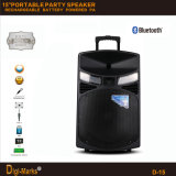 15′′ Mobile Party DJ Rechargeable Karaoke Trolley Bluetooth Active Speaker