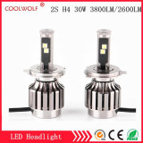 Factory Direct Sale 2s H4 30W 3800lm LED Car LED Headlight Bulbs Headlamp with Competitive Price