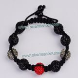New Design Shamballa Style Bracelet With Pave Crystal Balls
