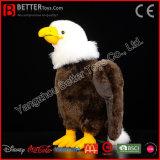 ASTM Lifelike Stuffed Animal Bald Eagle Soft Bird Plush Toy