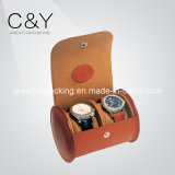 Luxury 2 Lots PU Leather Dual Travel Watch Case