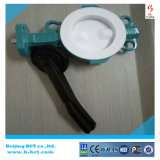 Ductile Iron PTFE Lining Wafer Butterfly Valve with Full PTFE Bct-F4bfv-10