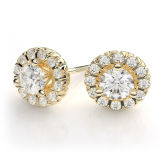 18k Gold Plated 925 Silver Stud Earring Jewelry for Wedding