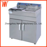 16+16L Vertical Electric Deep Fryer for Restaurant Use