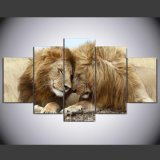 HD Printed Lion Painting Group Painting Canvas Print Room Decor Print Poster Picture Canvas Ym-012