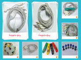 Compatible with Nihon Kohden ECG Can; E 10 Lead EKG Cable and Lead Wires