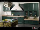 2015 Welbom Fairyland Green Aesthetic Wooden Kitchen Cabinet