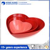 Custom Logo Heart-Shape Unicolor Melamine Soup Bowl