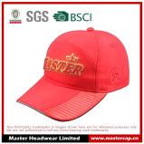 3D Embroidery Red Polyester Material Baseball Hat with Sandwich Peak