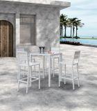 Outdoor Patio Furniture Effiel Bar Set Dining Set Plastic Wood Chair Table (J676)