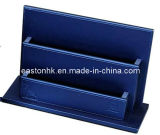 Top Quality Hotel Blue PU Leather Newspaper Holder Magazine Rack