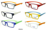 Long Temple Reading Glassses with Spring Fashion Reading Glasses with Case
