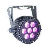 7*15W Rgbaw+UV 6 in 1 Waterproof Slim PAR Light