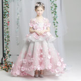 Litte Girls Model Dress Fantasy Walking Luxury Tailed Princess Dress