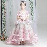 Litte Girls Model Dress Fantasy Walking Luxury Tailed Princess Dress