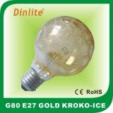 G80 Kroko-Ice Satin Gold Incandescent Bulb