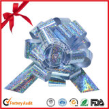 Wholesale Silver Holographic Christmas Gift Pull Bow