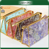 Mixed Color Fashion Pattern Printed Leather Edge Cosmetic Bag
