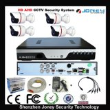 Cheap Waterproof 4CH Ahd Standalone CCTV Camera DVR Kit with Color Box 4 Rolls Cables Power Adapter