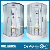 Popular Tempered Clear Door Glass Shower Room with ABS Shower Tray (SR213C)