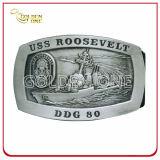 Superior Rectangle Antique Nickel Plated Metal Belt Buckle