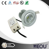 Aluminum Housing Sliver/White/Black COB LED Down Lights with OEM/ODM/MOQ