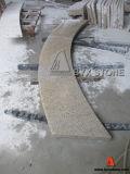 Bush Hammered Yellow Granite Radius Step / Tread for Plaza Project