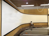 Large Fixed Frame Projection Screens for Multi-Channel Display System