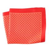 Luxury Silk Polyester Dots Plaid Flower Printed Pocket Square Hanky Handkerchief (SH-097)
