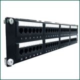 CAT6 48 Ports UTP Patch Panel Dual IDC PCB Type