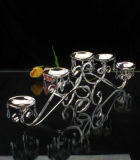 Silver Plated Candle Holder (HF11515D)