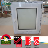 PVC Frame Screen Window, UPVC Profile Glass Windows with Screen