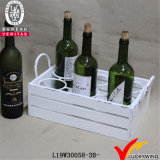 Wine Holder Solid Wood Basket Six with Handle
